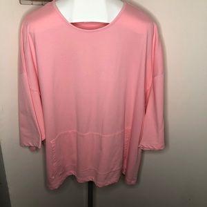 Blair Pink Short Sleeve Shirt With Kangaroo Pocket
